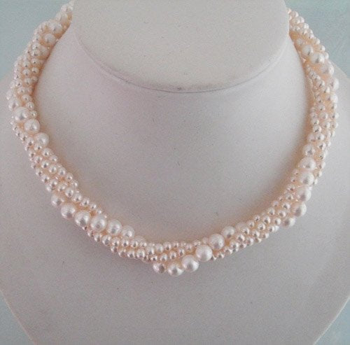 17'' 4 strands ivory pearl necklace