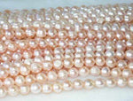 "wholesale 9-10mm 16"" pink pearl necklace strings"