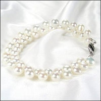 Beautiful WHITE Genuine FW Cultured Pearl Bracelet