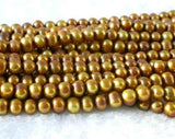 "wholesale 16"" 7-8mm coffee pearl necklace strings"