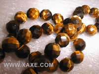 "18"" length--10mm tiger eye stone beads/necklace,64 shape"