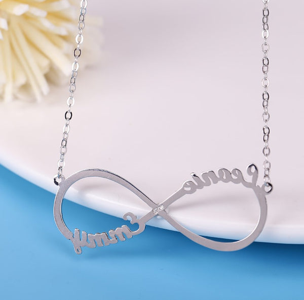 Sterling Silver Custom Name Necklace Personalized Name Necklace for Women Initials Necklace Kids name Custom Letter Necklace
