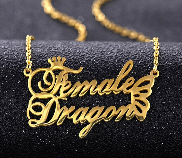 Custom Name Necklace Personalized Name Necklace for Women Initials Necklace Gold Name Necklace Kids name Custom Letter Necklace
