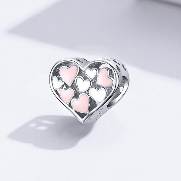 Sterling 925 silver charm the love and love pendant fits Pandora charm and European charm bracelet