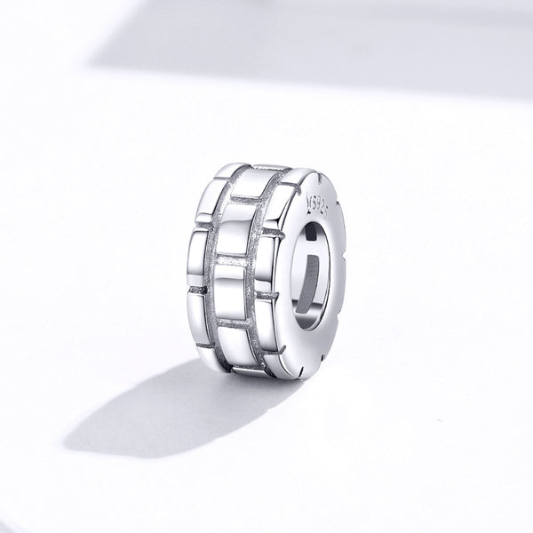 Sterling 925 silver charm the wall circle bead pendant fits Pandora charm and European charm bracelet