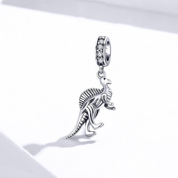 Sterling 925 silver charm the dinosaur bead pendant fits Pandora charm and European charm bracelet