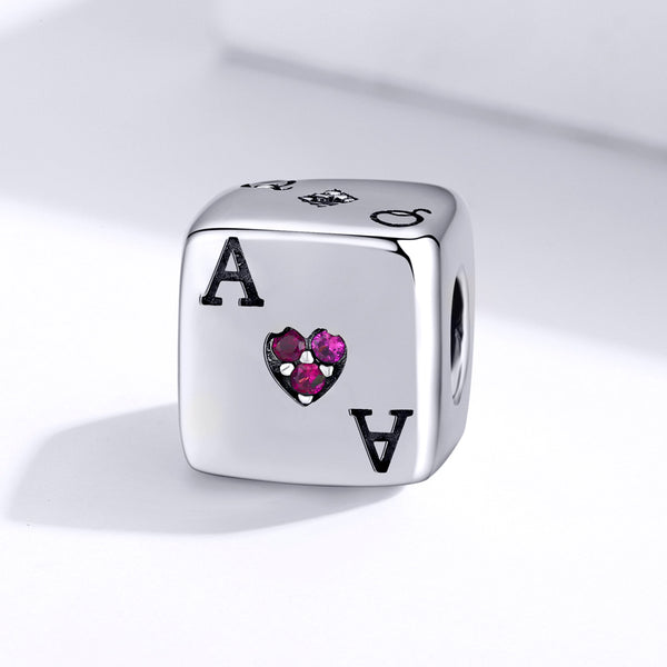 Sterling 925 silver charm the Ace bead pendant fits Pandora charm and European charm bracelet