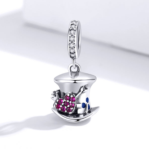 Sterling 925 silver charm the hat bead pendant fits Pandora charm and European charm bracelet
