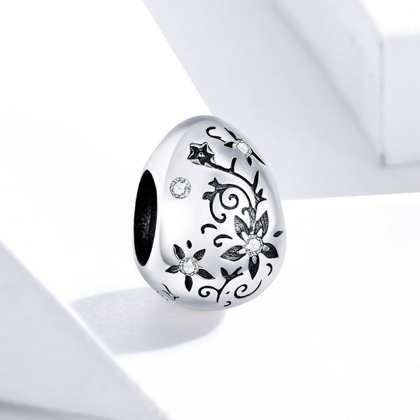 Sterling 925 silver charm the happy egg pendant fits Pandora charm and European charm bracelet