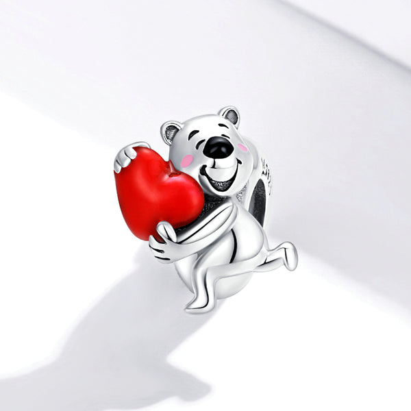 Sterling 925 silver charm the squirrel bead pendant fits Pandora charm and European charm bracelet