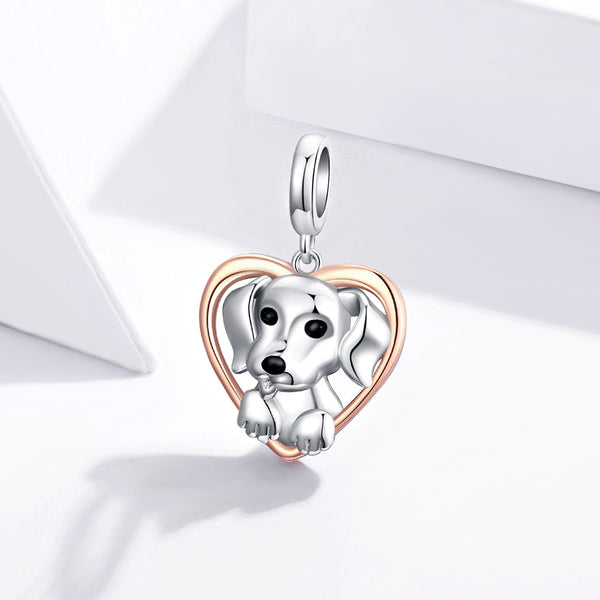 Sterling 925 silver charm the my dog bead pendant fits Pandora charm and European charm bracelet