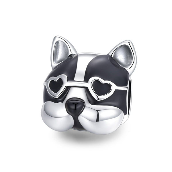 Sterling 925 silver charm the Dr.Puppy bead pendant fits Pandora charm and European charm bracelet