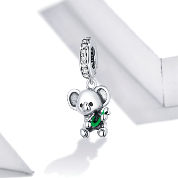 Sterling 925 silver charm the cute bear bead pendant fits Pandora charm and European charm bracelet