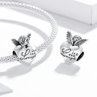 Sterling 925 silver charm the Live Life Laugh mom pendant fits Pandora charm and European charm bracelet