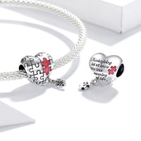 Sterling 925 silver charm the puzzle pendant fits Pandora charm and European charm bracelet