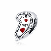 Sterling 925 silver charm the we are together bead pendant fits Pandora charm and European charm bracelet