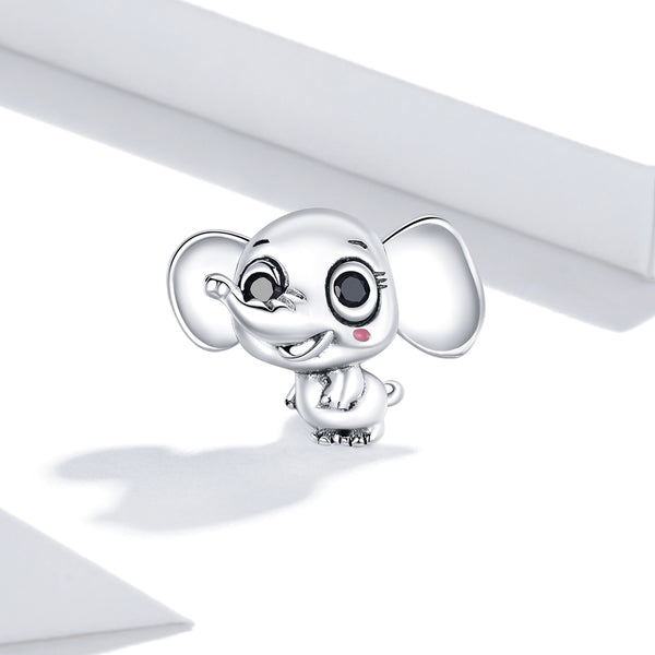 Sterling 925 silver charm the cute elephant bead pendant fits Pandora charm and European charm bracelet