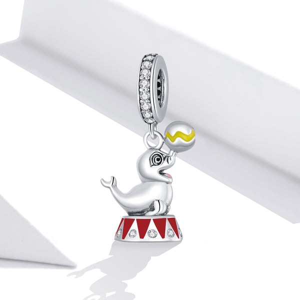 Sterling 925 silver charm the seal bead pendant fits Pandora charm and European charm bracelet
