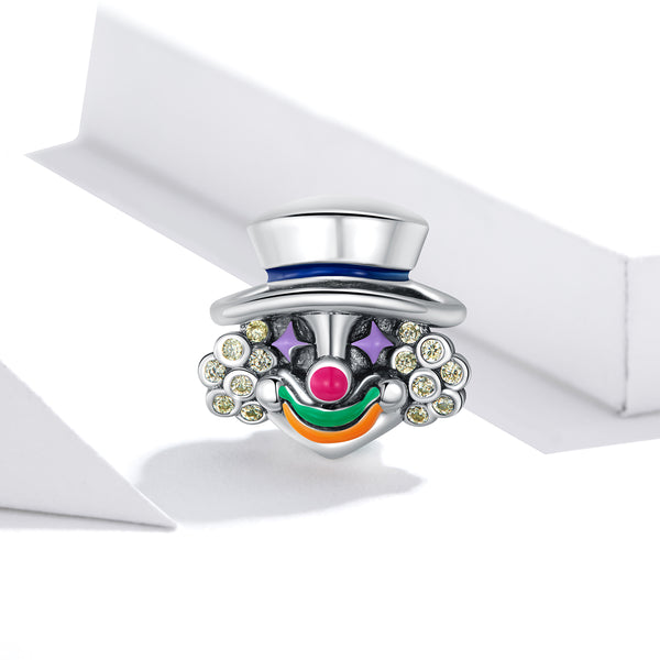Sterling 925 silver charm the clown bead pendant fits Pandora charm and European charm bracelet