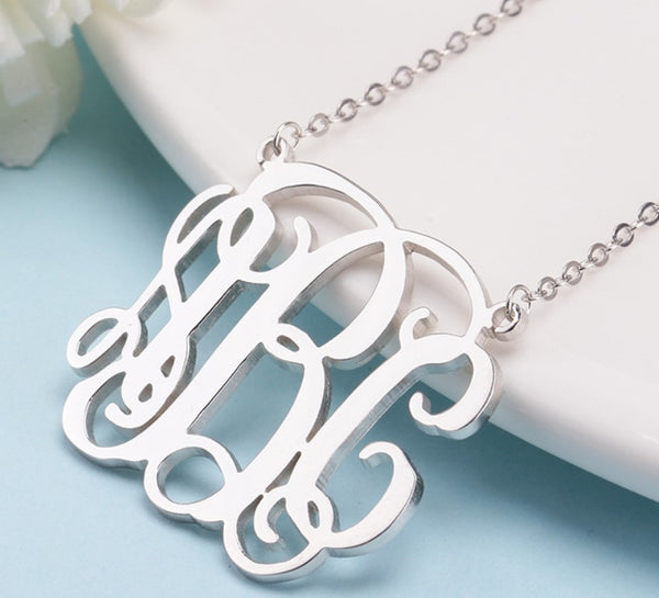 Sterling Silver Custom Necklace Pendant Personalized Name Necklace for Women Initials Necklace Kids name Custom Letter Necklace