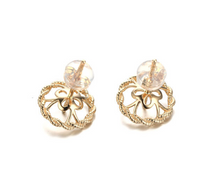 14k solid gold  real gold  earring findings twist shape, Yellow gold