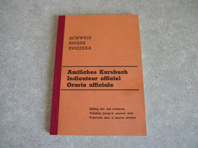 Amtliches Kursbuch - Indicateur Officiel - Suisse -  Orario Ufficiale - réédition Minirex 1977 de l'indicateur de 1939