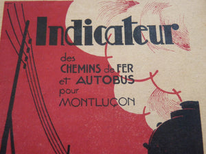 Indicateur SNCF  Hiver 1937 - 1938