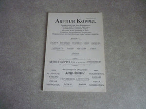 ARTHUR KOPPEL Reproduction catalogue ancien