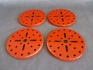 Meccano, lot de 4 flasques rouges