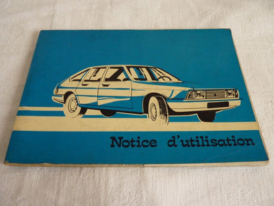 Notice d'utilisation (Simca 1307) Chrysler France  1977