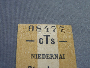 Ticket train CTS STRASBOURG NIEDERNAI 1952