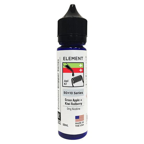 Element E Liquid Green Apple + Kiwi Redberry Emulsions Dripper Series | Online Vape Shop | Bargain Vape UK