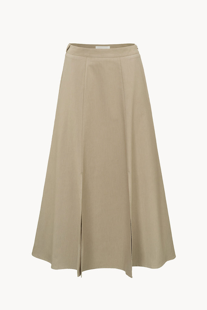 Edition 2 - 0006 organic cotton skirt with high slits