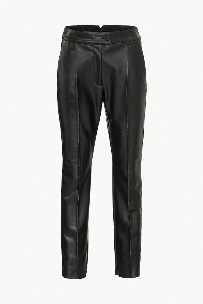 CAES - Vegea leather look straight trousers