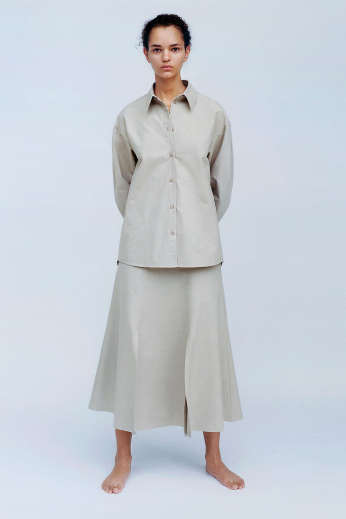 CAES - 0006 organic cotton skirts with high slits