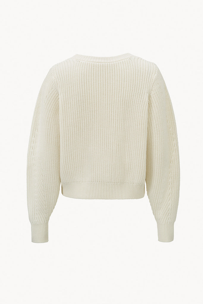 CAES - 0008 airy merino wool sweater flared sleeves - back