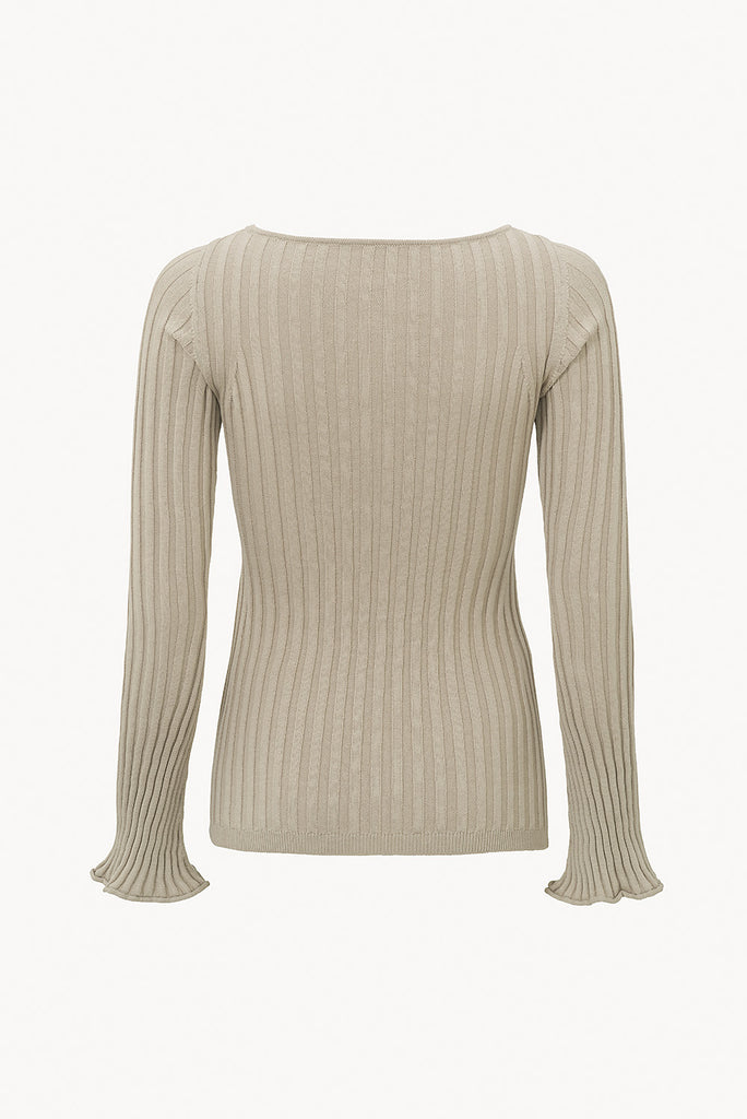CAES  - 0009 ribbed-knit sweater in organic cotton - back