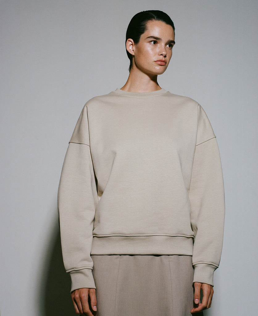 Edition 3 - 0012 organic sweater with pleated detail