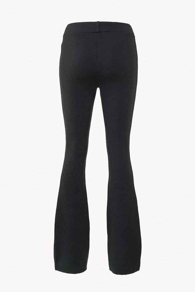 Knitted trousers in extra-fine merino wool back