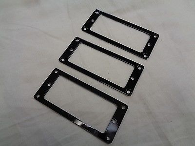 Black Flat Mini-Humbucker Rings Set