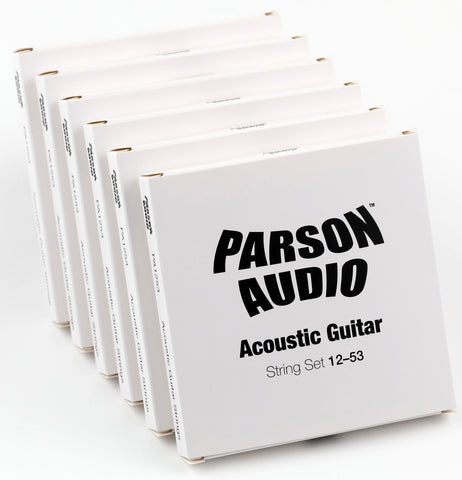 Parson Audio Acoustic Guitar Strings 12-53 6-Pack