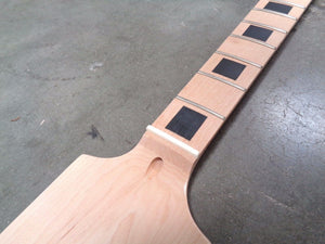 Paddle Guitar Neck Maple/Maple 22 Jumbo Frets Block Inlay