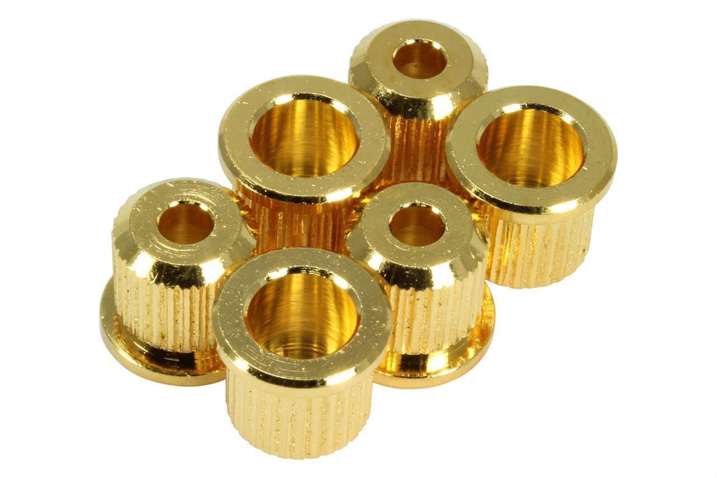 Vintage Knurled Edge String Ferrules Gold