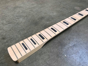 Full Scale Paddle Bass Neck Maple/Maple Block Inlay
