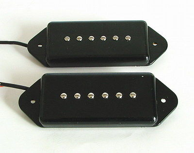 Artec Alnico 5 Soap Bar Dog Ear Pickup set Black