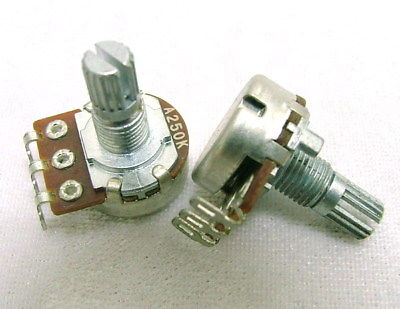 A250K Volume Tone Audio Pot Potentiometer Short Shaft