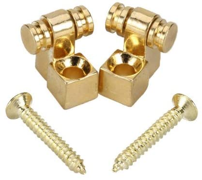 Set of 2 Gold Roller String Retainer for Strat Guitar