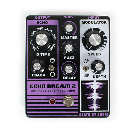 Death by Audio Echo Dream 2 Echo Modulation Guitar Effects Pedal