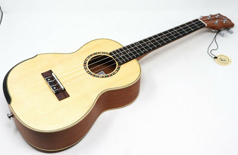 "Larry's Ukulele LBS Series 26"" Tenor Solid Spruce Top With Soft Bag [Mahogany]"