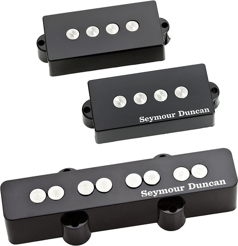 Seymour Duncan Quarter Pound P-J Bass Set - Black